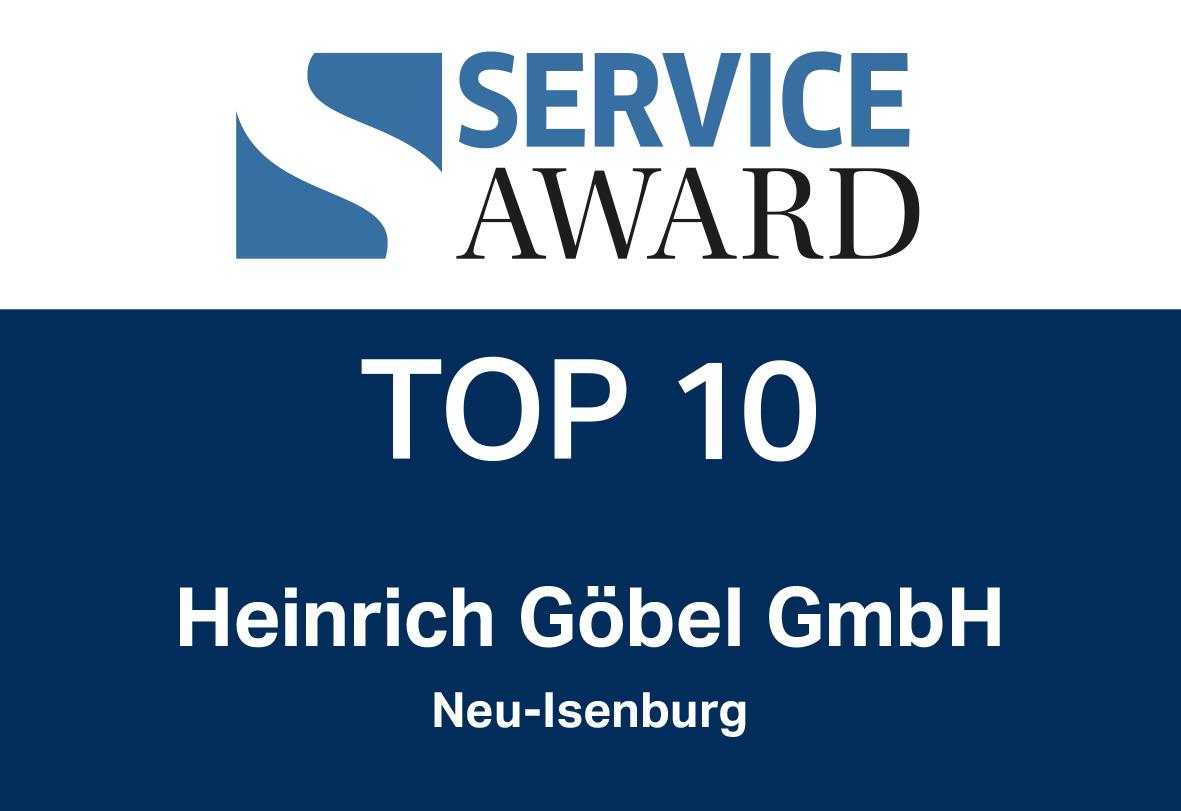 Service Award Top 10 - Heinrich Göbel GmbH Neu-Isenburg
